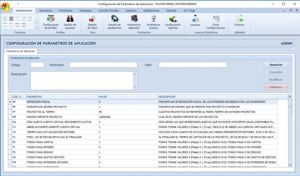 Administración - Crowdlending App