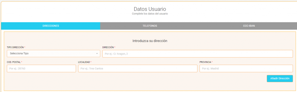 Datos Usuario - Crowdlending App