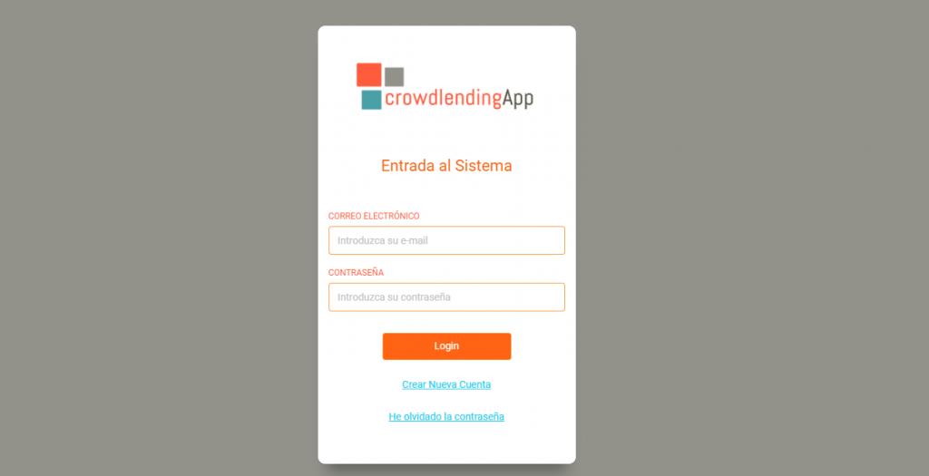 Login - Crowdlending App